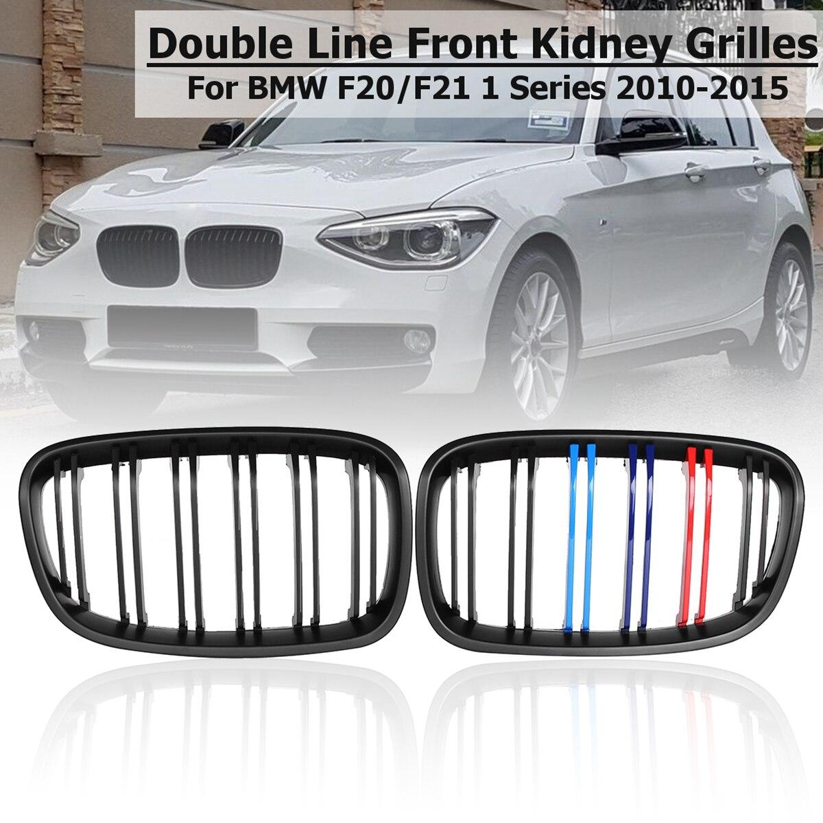 For 2011-2014 BMW F20 F21 1 Series Hatchback Sport Kidney Grill Grille Dual Slat