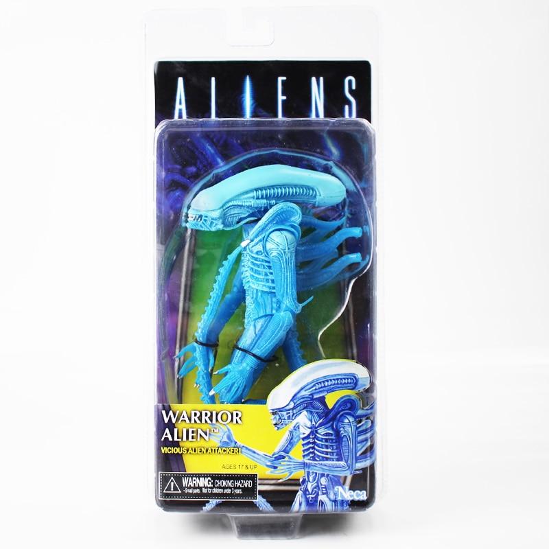 "NECA Aliens Blue Warrior Alien Aliens Series 11 Vicious Alien Attacker 9/"" Figure"