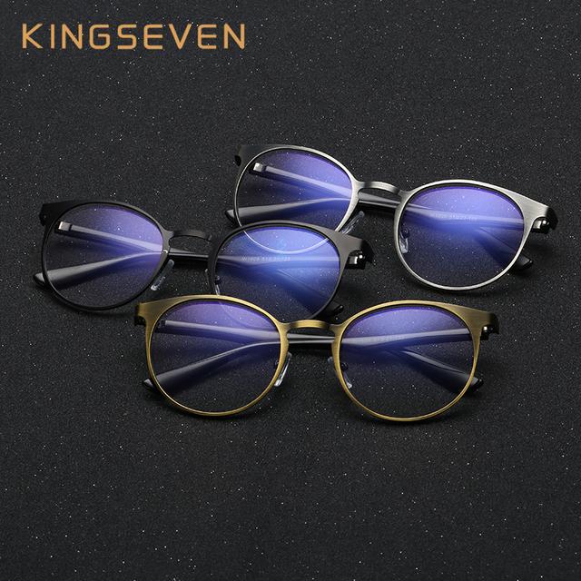 KINGSEVEN 2017 Anteojos de la Computadora Contra La Fatiga resistentes a la Radiación Gafas Gafas de Lectura 7609
