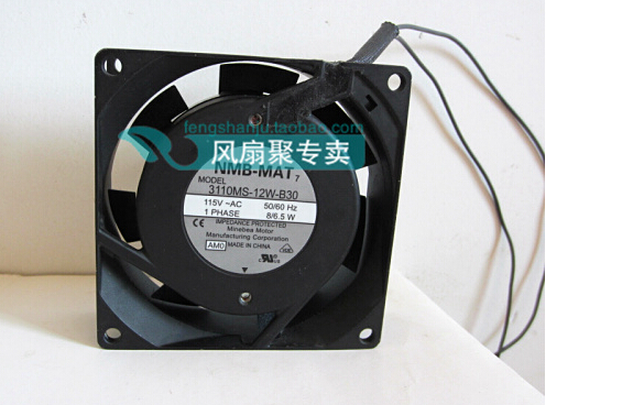 New original NMB 8CM8025 3110MS-12W-B30 AC115V 8/6.5W80*80*25MM AC fan sanyo new fv28025hba 8025 220v 0 15a ac condenser fan with fan for wonsan 80 80 25mm