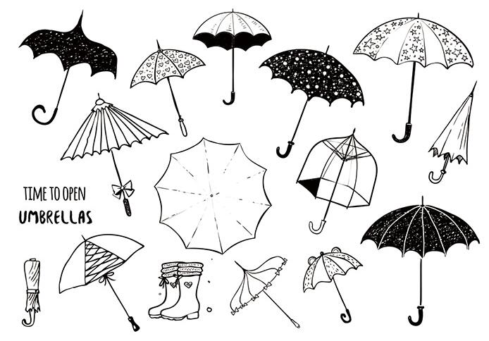 umbrella Clear Stamp Or stamp for DIY Scrapbooking/Card Making/Kids Fun Decoration Supplies A2094(China)