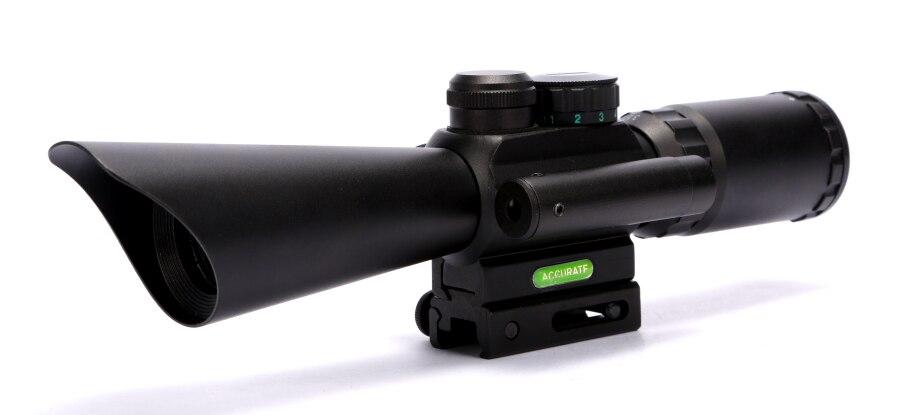 Livraison gratuite 3.5-10x40 chasse fusil portée M8 Sniper optiques portées avec Laser rouge cible lumière de vue pour Airsoft Guns