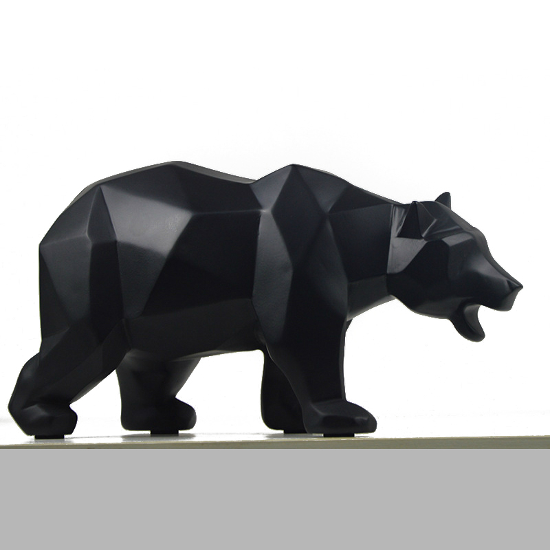 Simple Abstract Geometric Polar Bears Horse Animal Sculpture Ornaments Modern Bear Home Decorations Accessories Crafts Statue