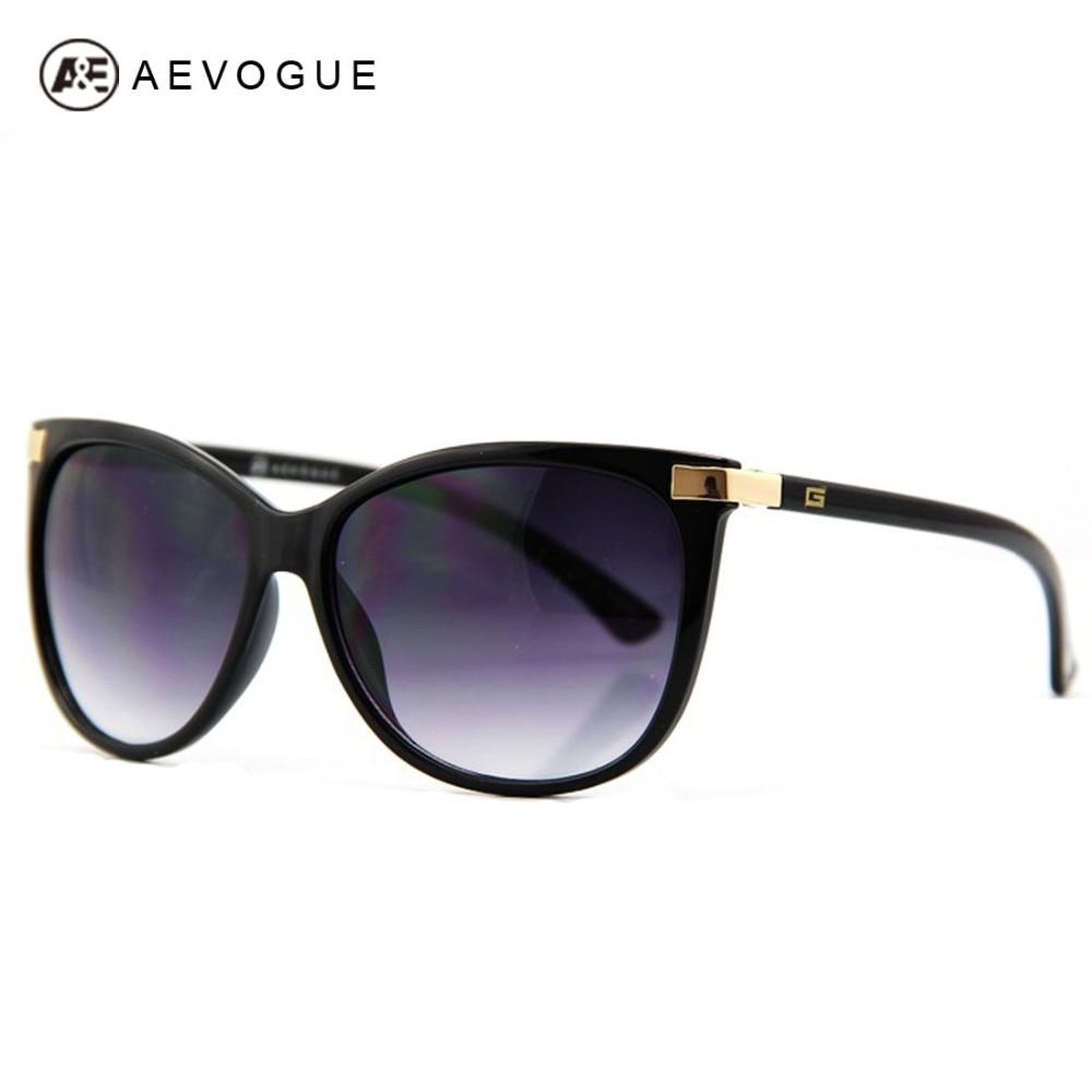 AEVOGUE envío gratis más nuevo ojo de gato clásico de la marca gafas de sol de las mujeres Venta caliente gafas de sol Vintage, gafas CE UV400 AE0098