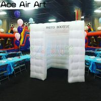 Colorful inflatable photo studio,digital camera room photo booth background with foldable doors and logos by Ace Air Art
