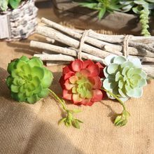 Artificial Plant Succulent Plants 14CM Green Cactus Real Touch DIY Home Garden Party Plant Wall Decoration Photography Props