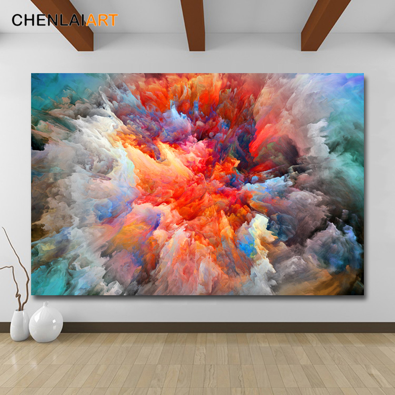 Abstract Colorful Cloud Posters Home Decor Print Canvas Painting Canvas Wall Art