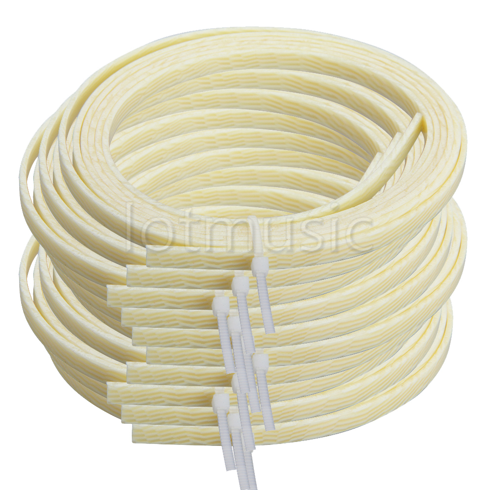 Guitar Binding Purfling Strips Celluloid Guitar Parts Accessories 11 Style Available 10 Pcs For Luthier Supplies 5 Feet 4mm