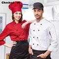 Brands Checkedout Hotel Restaurant Chef Uniform, Dress Uniform , Kitchen Clothing Chef Wear Short Sleeved Summer Wear