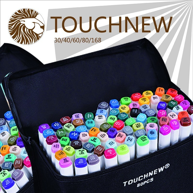 two headed alcohol oily sharpie art mark pen fine markers 30 36 40 hand-painted design suit manga drawing canetas w110145 soft head fine water mark pen 48 60 color beginners painting professional equipment advanced ink student art suit