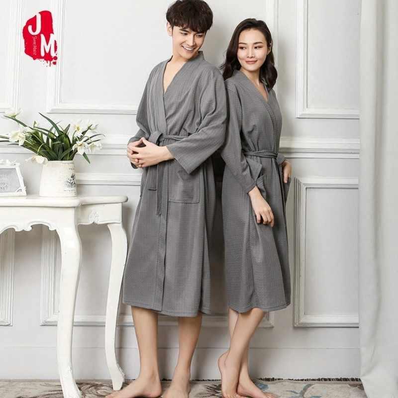 d805a8e014 Autumn Lovers Luxury Soft Kimono Bath Robe For Women Men Waffle Solid Night Winter  Bathrobe Bridesmaid