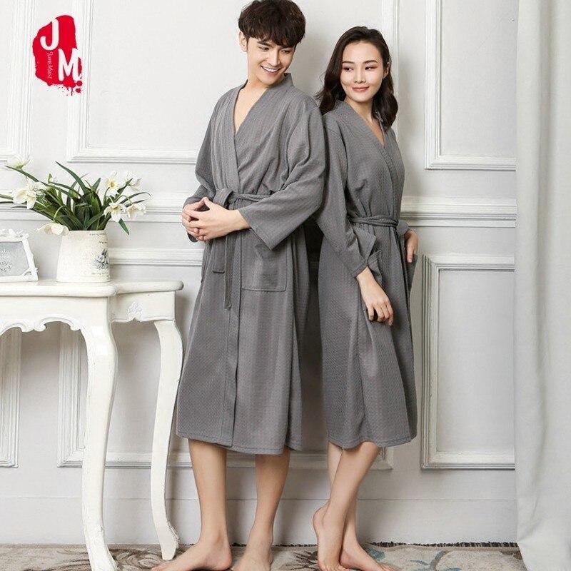 Autumn Lovers Luxury Soft Kimono Bath Robe For Women Men Waffle Solid  Night Winter Bathrobe Bridesmaid Robes Dressing Gown XXXL