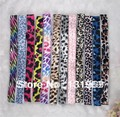 Wholesale 96pcs/lot 12Colors elastic leopard Zebra Print Satin Stretchy Yoga Sports Headbands  For Baby Girl Hair Accessaires CS