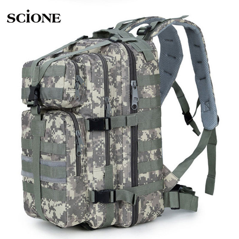 <font><b>35L</b></font> Military Army <font><b>Backpack</b></font> Trekking Bags Camouflage Rucksack Molle Tactical Bag Camping Sac De Sport Travel <font><b>Backpacks</b></font> XA161WA image