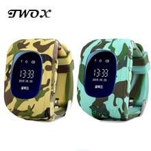 Twox Q50 GPS Умный Ребенок Безопасной Смарт часы SOS вызова Расположение Finder трекер для ребенка анти потерянный монитор для Сын наручные часы