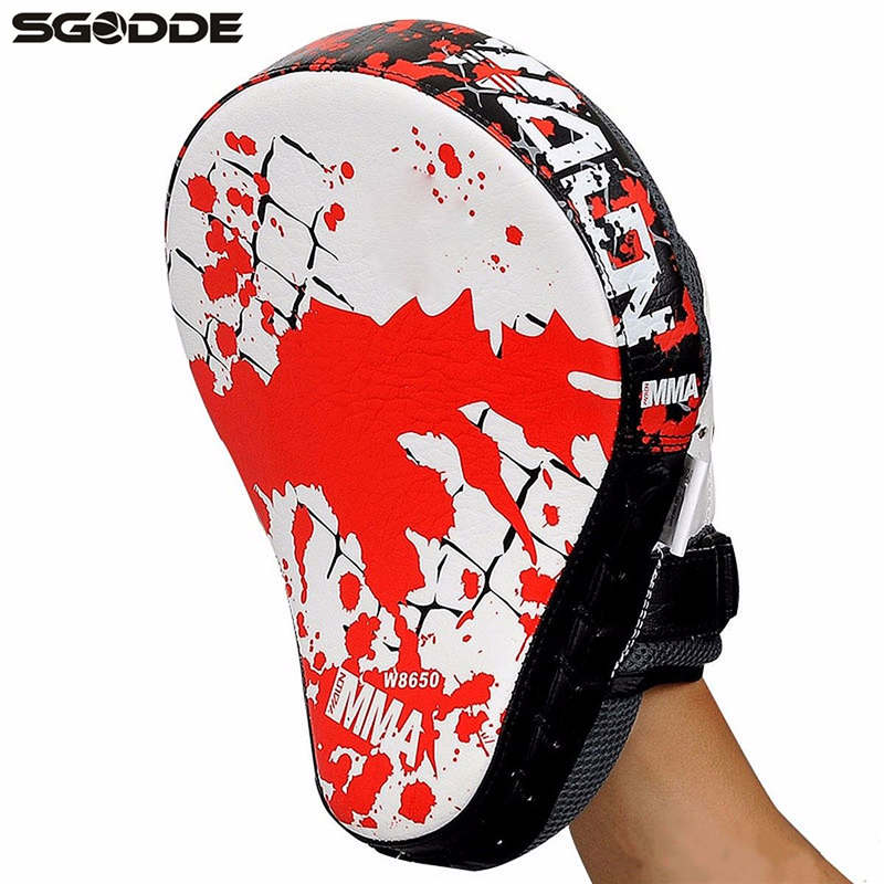 1pcs Boxing Gloves Pads for Muay Thai Kick Boxing Mitt MMA Training PU foam boxer hand target Pad Sandbag Punch Pads martial arts