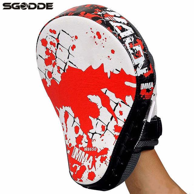 1pcs Boxing Gloves Pads for Muay Thai Kick Boxing Mitt MMA Training PU foam boxer hand target Pad Sandbag Punch Pads