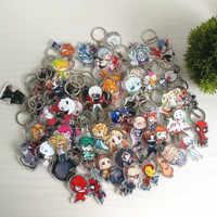 100 pcs/lot Hunderte von Arten Keychain Acryl Charms Hochwertige Chibi Anime Anhänger Schlüssel Kette Zubehör