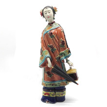 Angel Statue Marvel Collectible Chinese Female Antique Sculptures Art Vintage Figurine Home Decor Doll Crafts oriental broider doll chinese old style figurine china doll girl statue