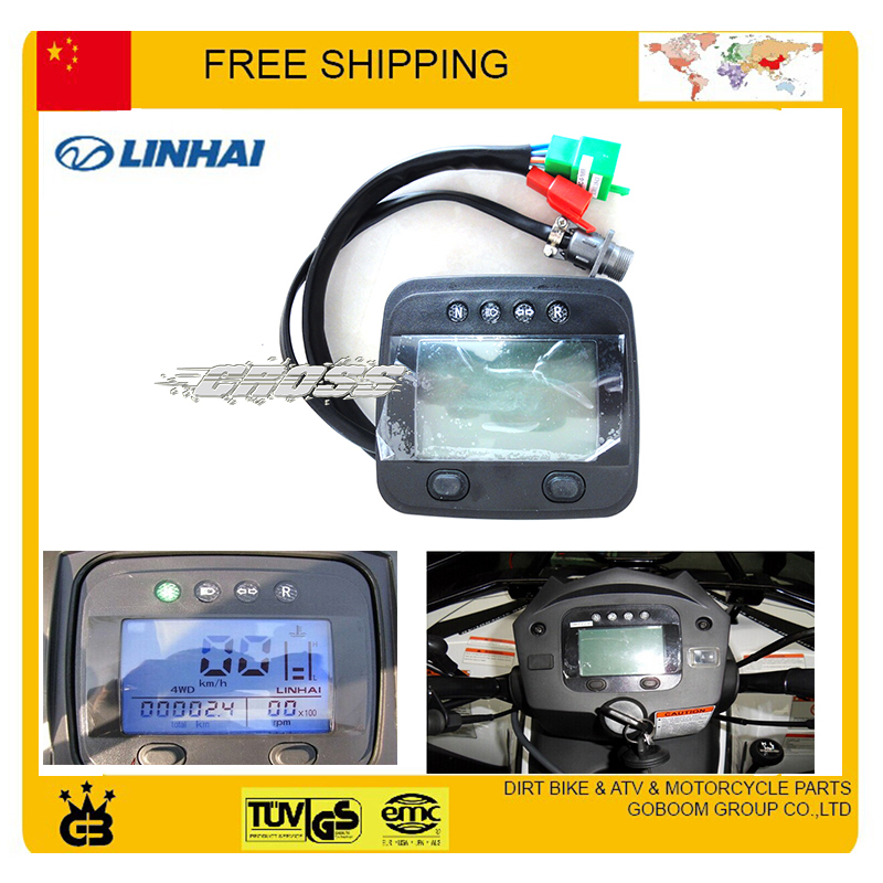feishen buyang LINHAI ATV 400cc 300cc 260cc Digital Speedometer Led Odometer Euro Standard Free Shipping buyang fa k550 n550 feishen ignition coil 550cc atv quad motorcycle ignitor moto gp accessories free shipping