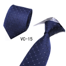 New Fashion Plaid Neckties Corbatas Gravata Jacquard Woven 8cm Width Men Ties Slim Tie Business Wedding Stripe Neck For