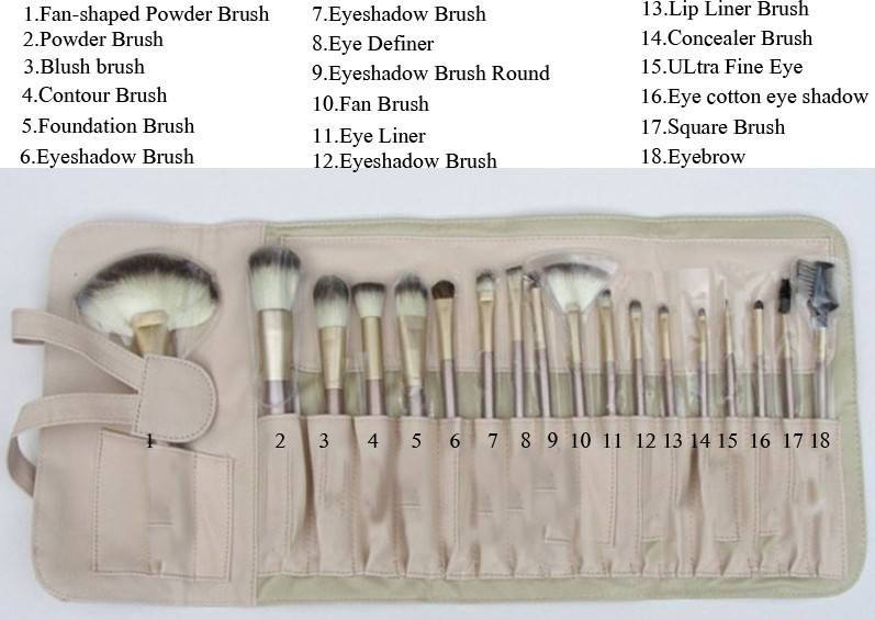 18 pcs brush in En