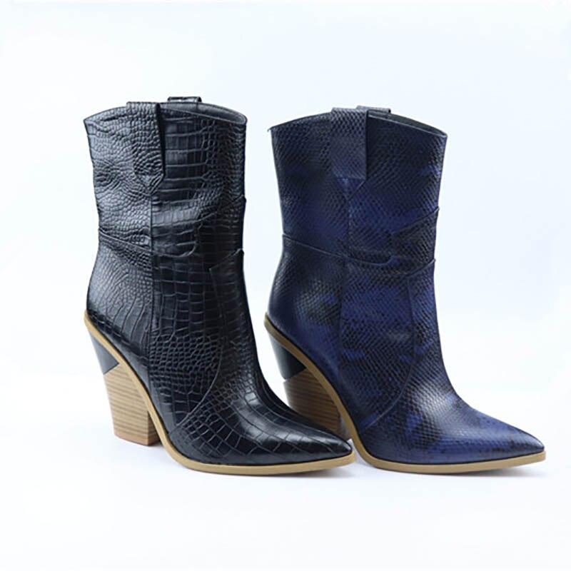 1d8ab99a314394 Inhabituel Boot Bout Isnom Haute Relief Chaussures Femme Femelle bleu  Nouveau Zip Noir Mode Printemps Bottes Pu 2019 Talon Pointu Cheville Femmes  WqpfzwOq