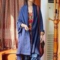 Las mujeres de algodón puro más tamaño cómodo color sólido super largo y de gran tamaño ocio original bufanda chal