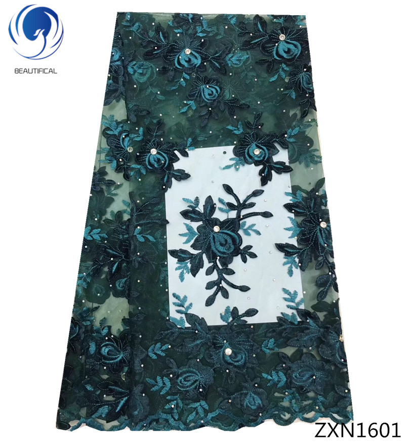 BEAUTIFICAL African Lace Fabric 2019 fashion Nigerian Net Lace Fabric with Stones Embroidery Tulle French Lace Women ZXN16BEAUTIFICAL African Lace Fabric 2019 fashion Nigerian Net Lace Fabric with Stones Embroidery Tulle French Lace Women ZXN16