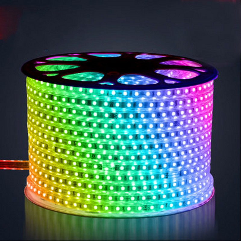 220V 5050 RGB LED Strip 10MM PCB Waterproof Warm Cold White Blue Red Green  Purple ribbon tape rope Lights 100m lotOnline Get Cheap Green Rope Light  Aliexpress com   Alibaba Group. Green Led Rope Lighting. Home Design Ideas