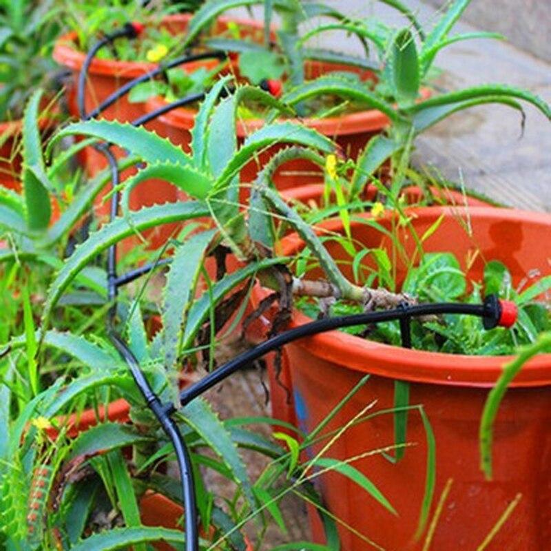 Acheter Nouveau 25 m DIY Micro Drip Irrigation System Plantes Arrosage Auto Jardin Tuyau Kits de Kits D'arrosage fiable fournisseurs
