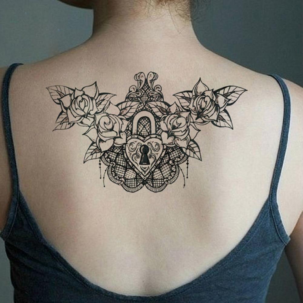 Best Deal Sexy Women Body Back Paint Tattoos Sticker Waterproof Temporary Tattoos Flash Flowers Tattoo Art Stickers 1pc new garmin watch 2019