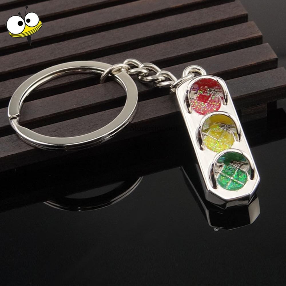 Funny Gift Traffic Light Keychain Car Key Ring Key Holder Car Accessories for Ford Fiesta Ranger F150 VW BMW GMC Holden Hyundai