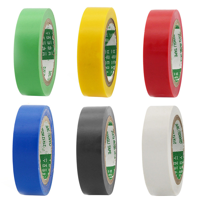 1PC 9M Transformer Electric Adhesive Tape Flame Retardent Insulation Adhesive Tape PVC Waterproof Self-adhesive Electrical Tape