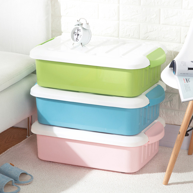 Pulley Bed Bottom Clothes Storage Box Plastic Finishing Box Large Clothing  Box Storage Box