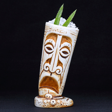 цены на 530ml Hawaii Tiki Mugs Cocktail Cup Beer Beverage Mug Wine Mug Ceramic Easter Islander Tiki Mug  в интернет-магазинах