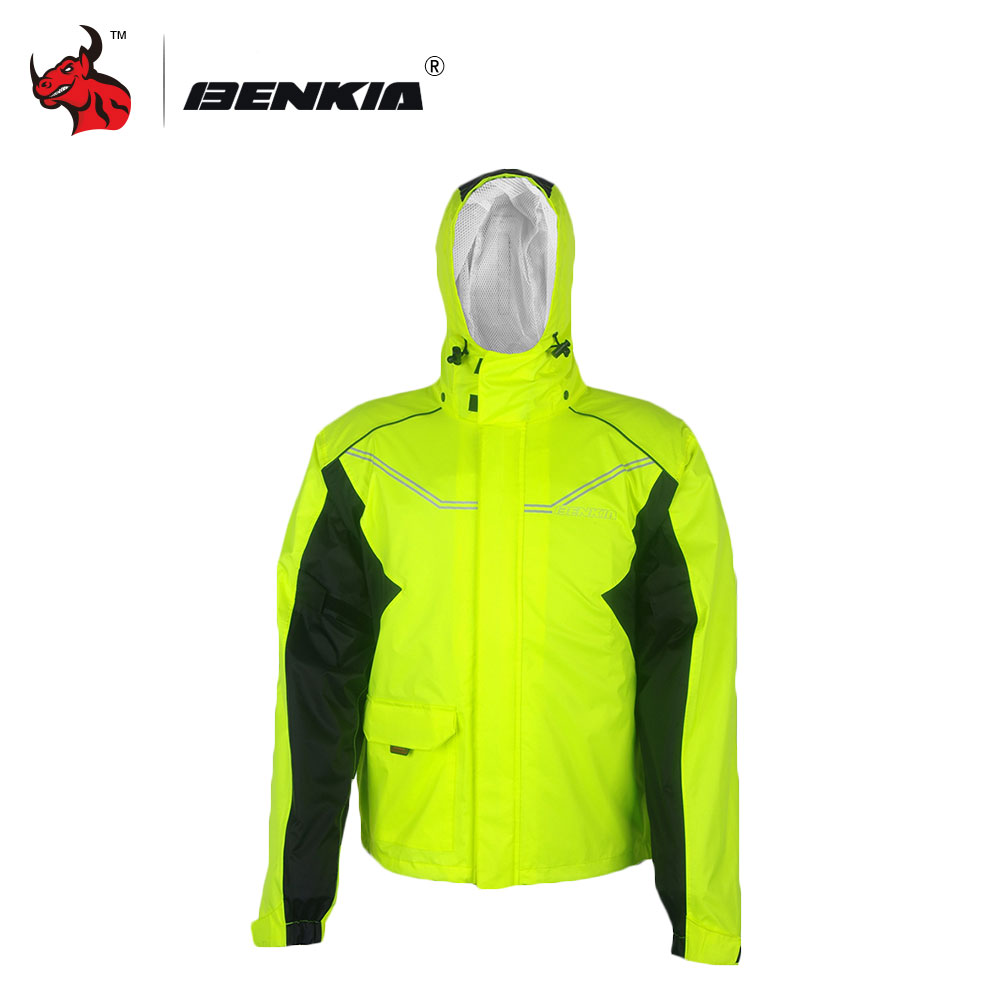 BENKIA Impermeable Two-piece Raincoat Women/Men Suit Rain Coat+Pants Motorcycle Rain Gear Riding Jackets  reflective raincoat rain pants waterproof single raincoat men and women for riding working free shipping