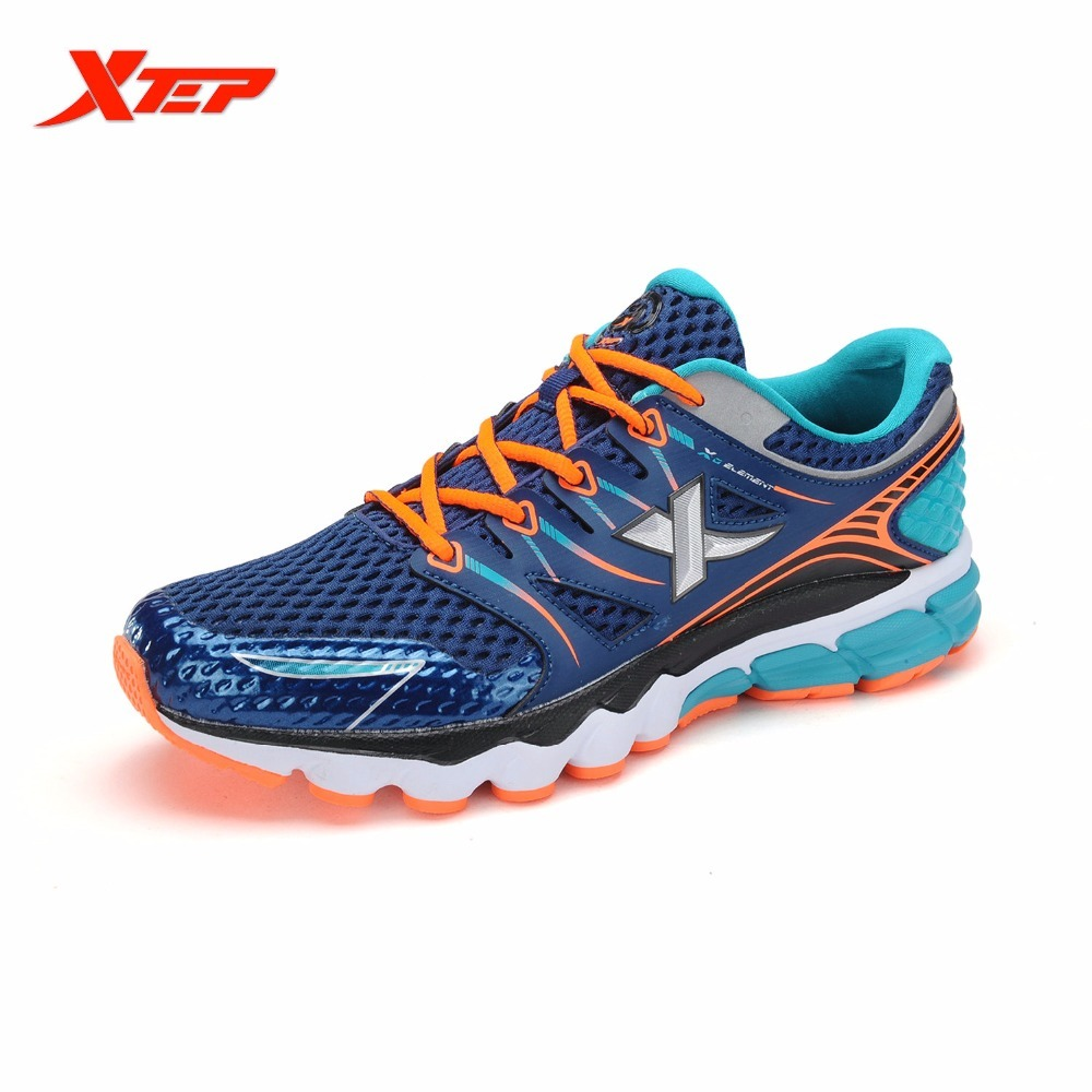XTEP Breathable Men's Running Mesh Trainers Outdoor Athletic sports Shoes for men free shipping Sneakers men running shoes breathable summer spring leather walking sports shoes lightweight trainers athletic sneakers m41108