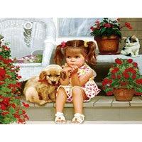 5D DIY Embroidery Diamond Dog Painting Flowers And Cat Full Square Drill Rhinestones Mosaic Cross Needlework