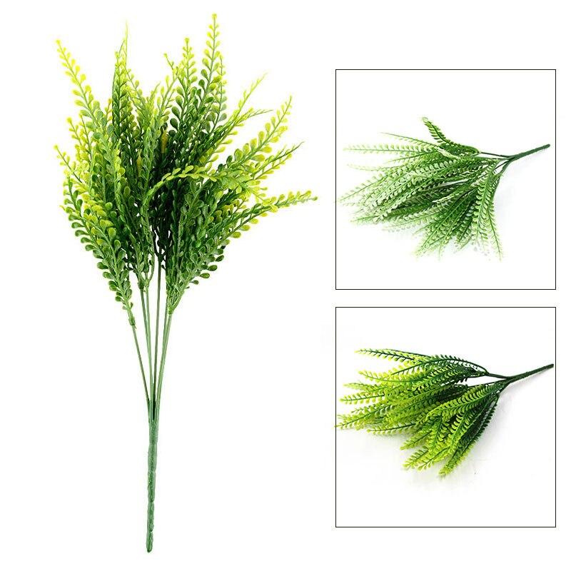 Hojas de la Planta verde Hierba Flores Decorativas Flores Artificiales Para la D
