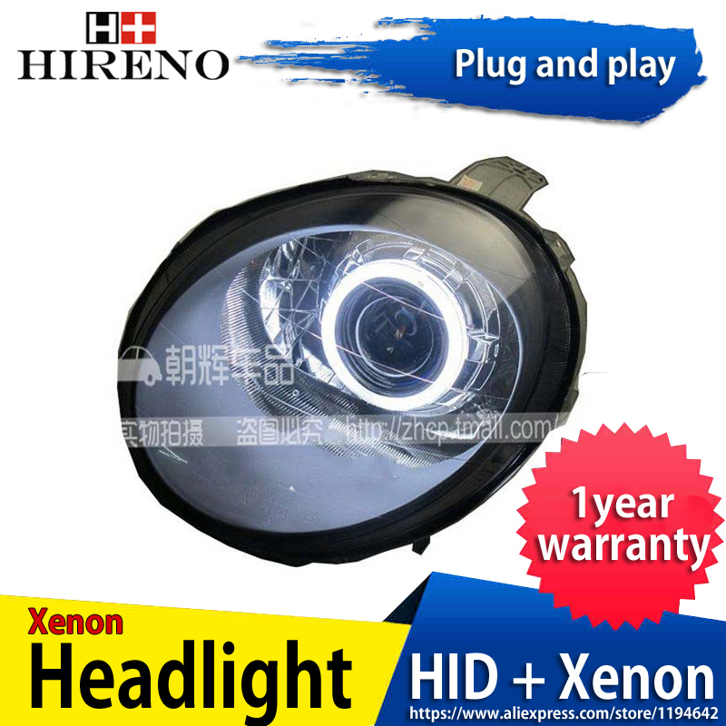 Car custom Modified Xenon Headlamp for Chevrolet Spark Headlights Assembly Car styling Angel Lens HID 2pcs