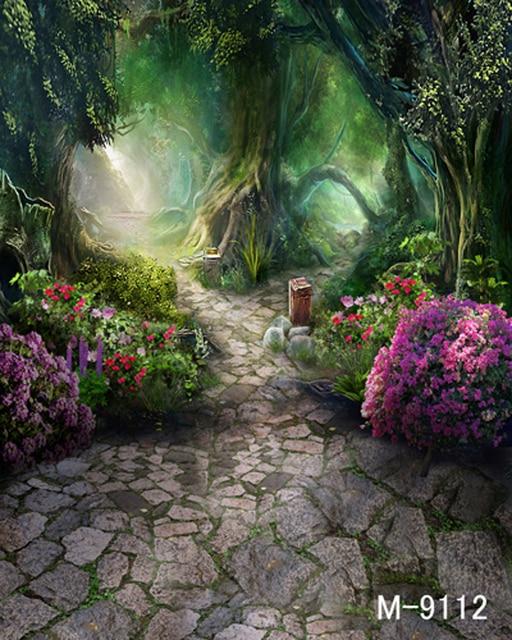 fantasy forests sunlight alley wedding children photography
