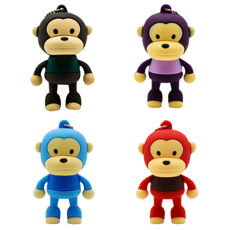 Computer & Office Usb Flash Drives Hot Sale Cartoon Animal Monkey Usb Flash Drive Pendrive 4gb 8gb 16gb 32gb Usb Stick External Memory Storage Pen Drive Cute Gift