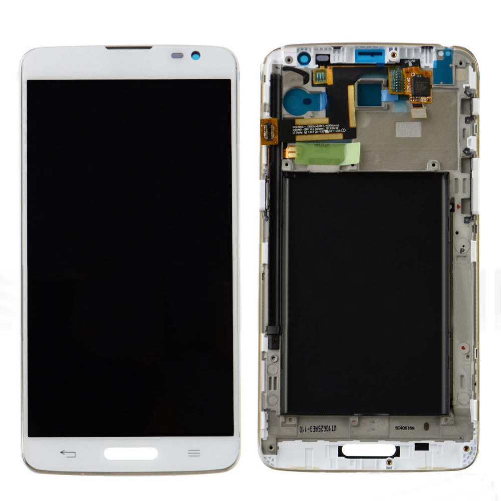 +Frame White LCD Display + Touch Screen Digitizer Assembly Replacement For LG G Pro Lite D680 D682 D682TR Free Shipping
