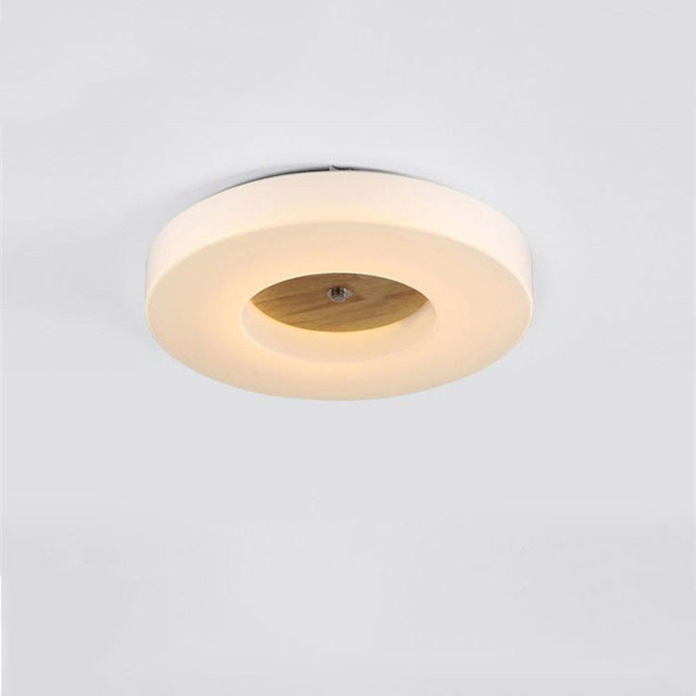 Modern minimalist led ceiling lamp dimming living room bedroom LED ceiling lighting circle acrylic shade wood decoration fixture ceiling lighting minimalist modern balcony study bedroom lighting led intelligent atmospheric living room dining room