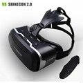 """Shinecon vr ii 2.0 capacete óculos de realidade virtual 3d telefone móvel filme de vídeo para 4.7-6.0 """"telefone + controle remoto"""