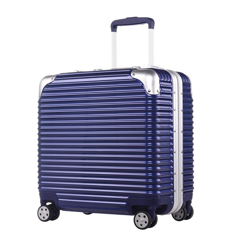16 inch full aluminium board box luggage pull rod box Pink blue black silver white men and women fashion luggage Universal wheel