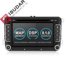 Isudar универсальная штатная автомагнитола навигация  2 Din на Android 8.1 с Сенсорным 7 Дюймовым Экраном для автомабилей VW/Golf/Tiguan/Skoda/Fabia/Rapid/Seat/Leon/Skoda с Поддержкой Canbus Радио FM DPS
