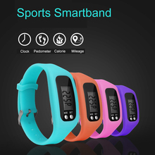 Life Waterproof Men Women Sports Digital Bracelet Watches Pedometer Fitness LED Arcrylic Watch Boy Girl font