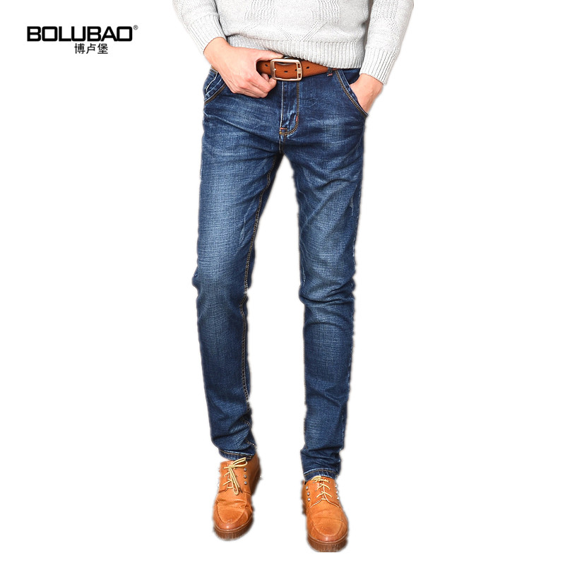 Bolubao New Mens Jeans Brand Fashion Classic Stretch Skinny Jeans Men Autumn Casual Slim Pencil Pants Male Washed Trousers